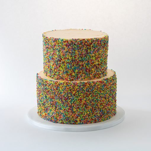 dubbele confetti cake voor party's