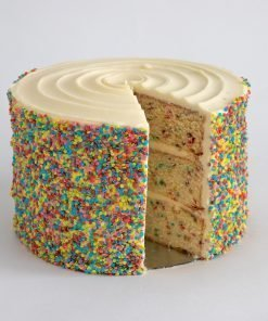 vanille confetti cake voor party's